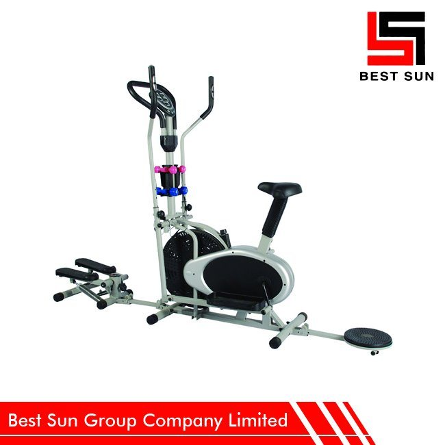 Indoor Home Bike Trainer with Twister and Stepper