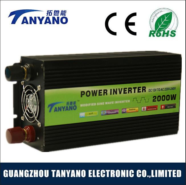 Hot Sale 2000W DC12V to AC220V Modified Sine Wave Inverter
