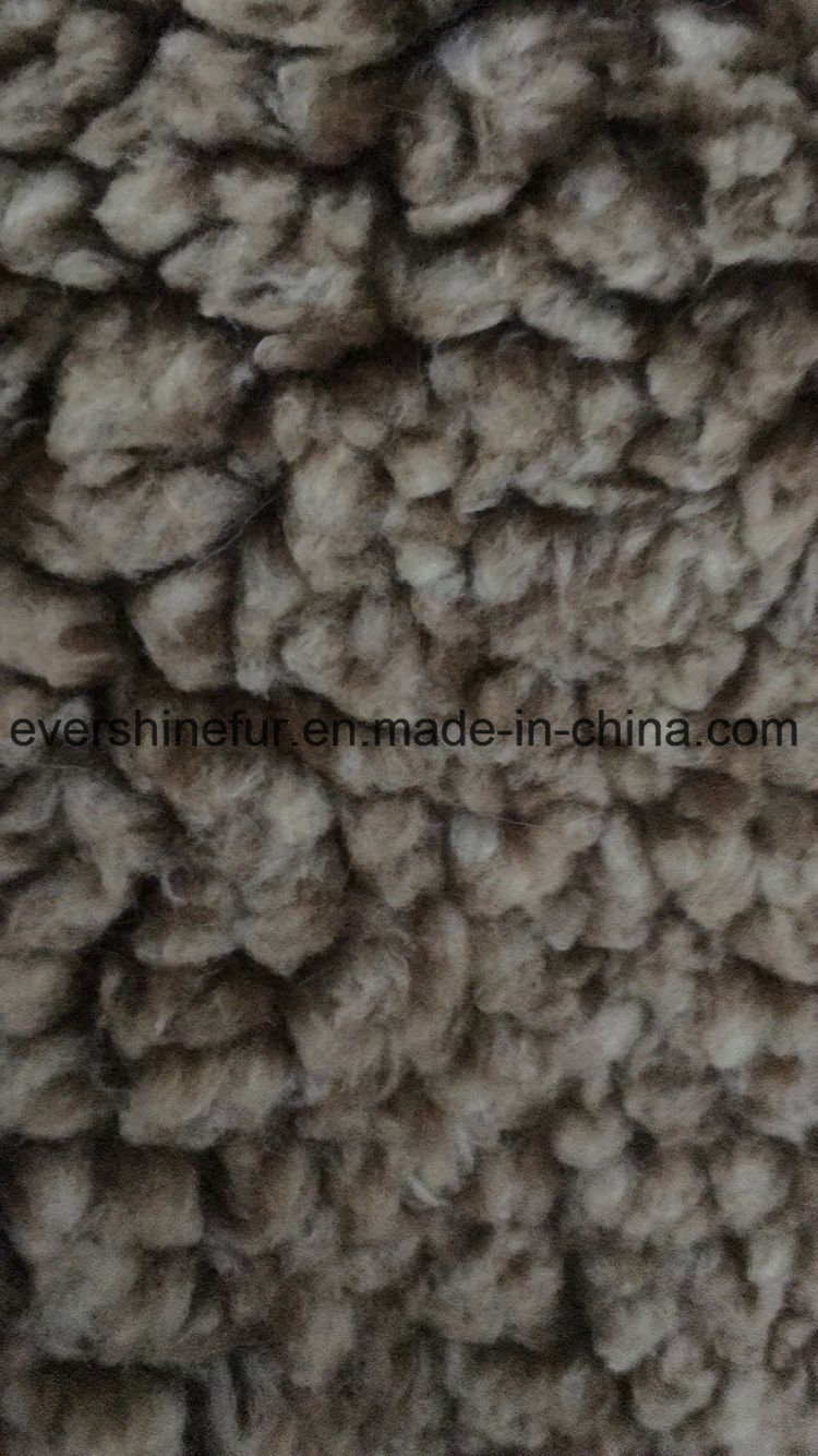 Foil Suede Bonding Sherpa Curly Fur Fake Fur Fabric for Garment