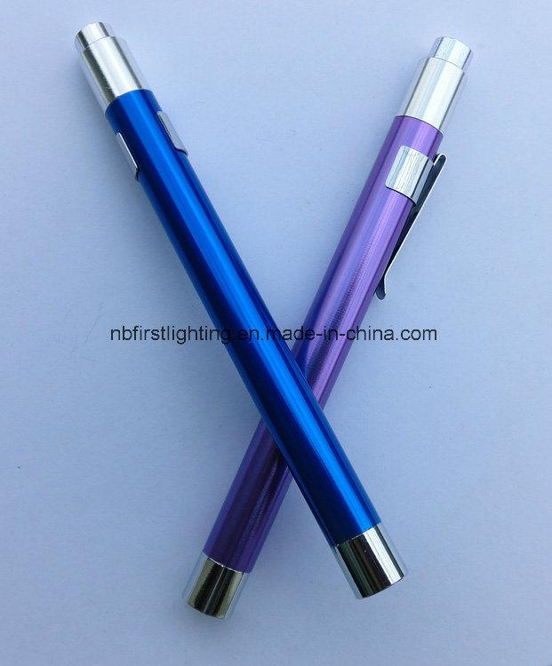 Medical Reusable Diagnostic Pen Light Doctors Penlight Stethoscope Penlight with Pupil Gauge