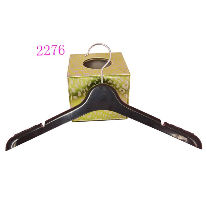 Luxury Brand Custom Plastic No Slip Flocked Coat Hangers
