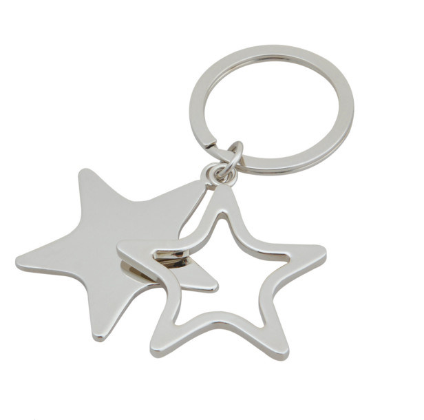 Star Shape Blank Keychain for Promotion (MK-062)