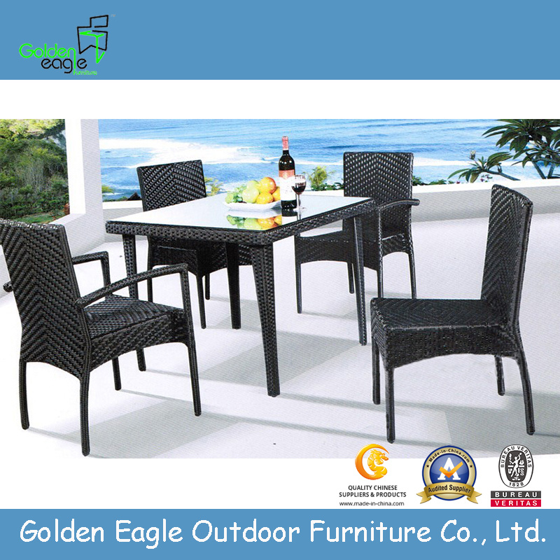 Hot all-weather wicker outdoor dining table and chair- FP0137