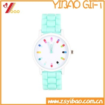 Promotion Gift with Custom Logo Silicone Quartz Men Women Jelly Wrist Watch Silicone Watch