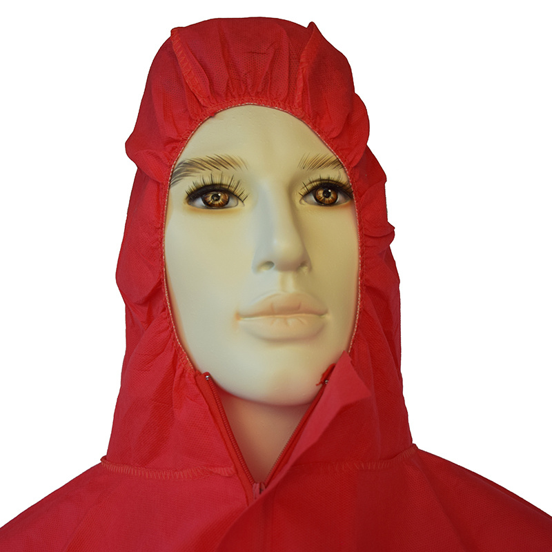 Disposable Red SMS Non-Woven Overall