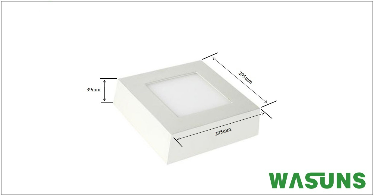 24W LED Light Surface Mounted Square Light Panel Lamp
