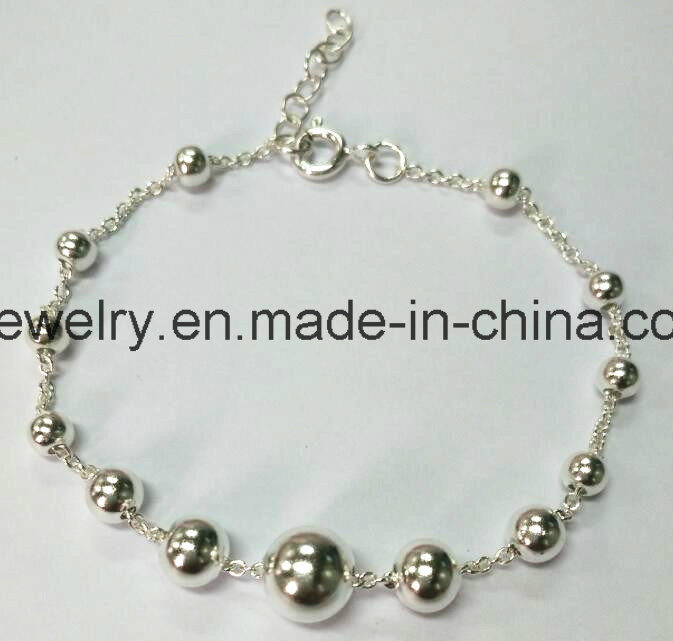 Custom 925 Sterling Silver Heart Bracelet
