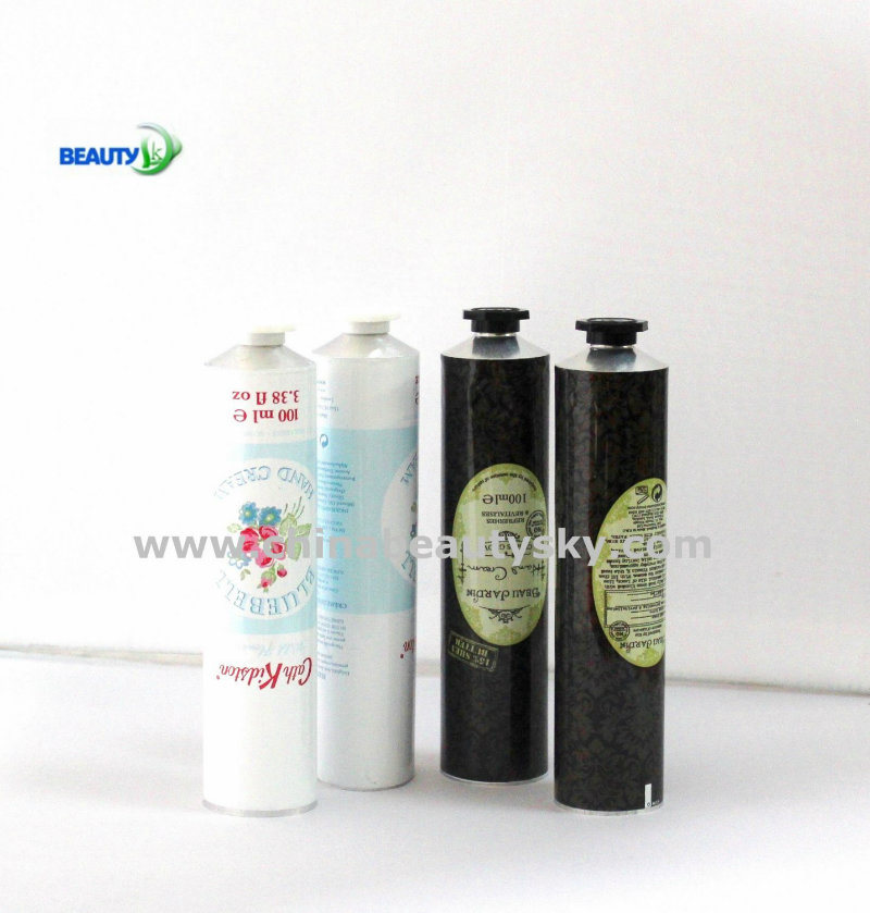 Skin Care Packaging Hand Cream Labeling Empty Collapsible Aluminum Container Tube