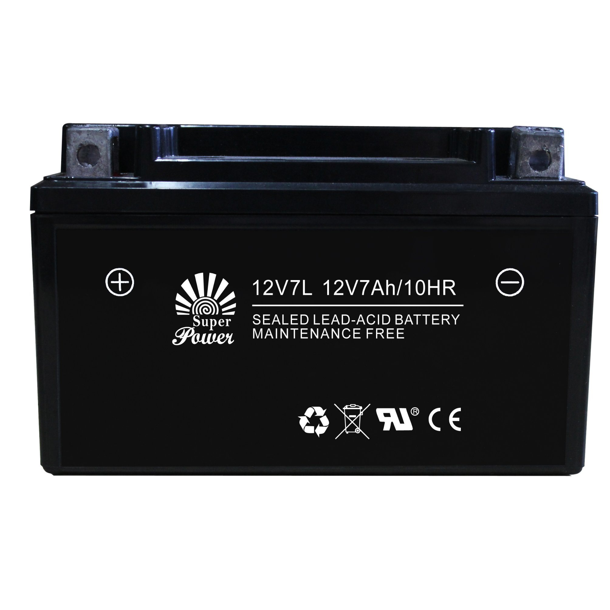 Starting Motorcycle Battery 12V 7ah VRLA Serial (12V7L) with Capacity 7ah and Voltage 12V