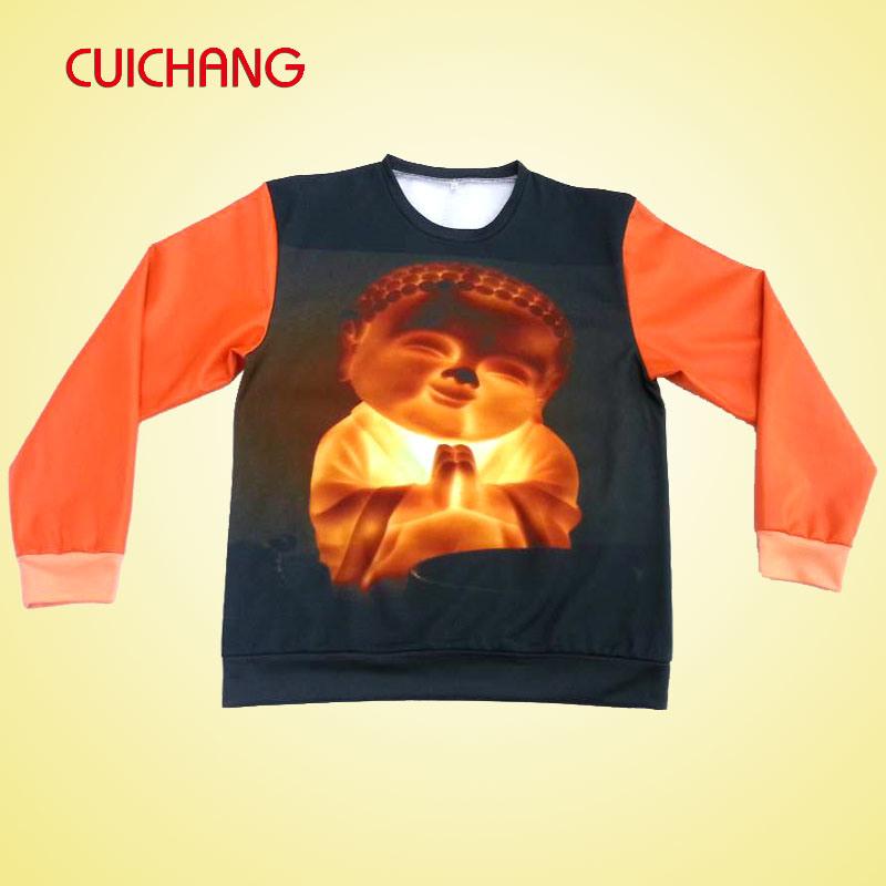 Custom Sweatshirt, Digital Sublimation Sweatshirt, Unisex 100%Cotton Hoodies (AH-012)