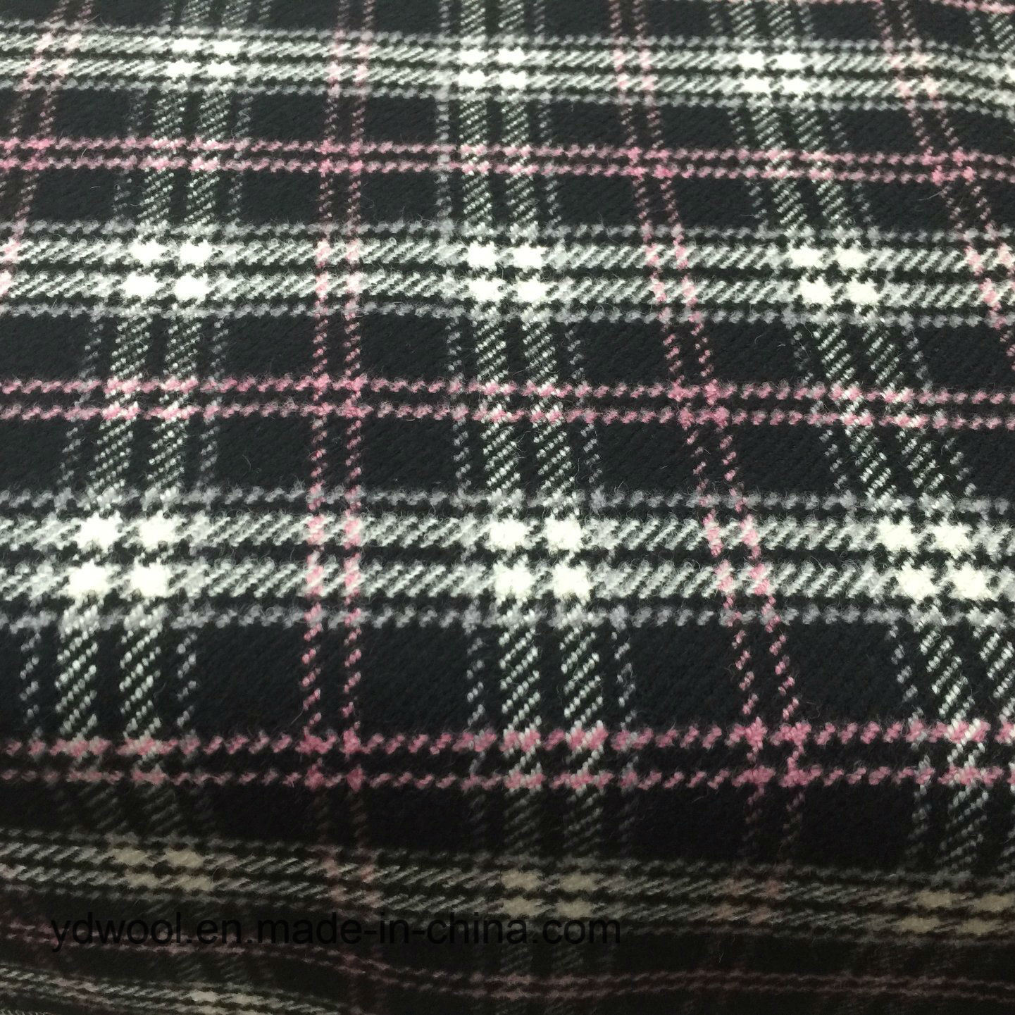 Stock Wool Fabric Check Yarn-Dyed