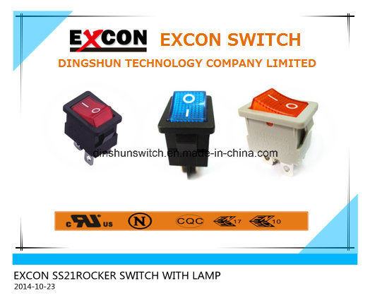 Excon Ss21 Power Rocker Switch with Lamp for Printer