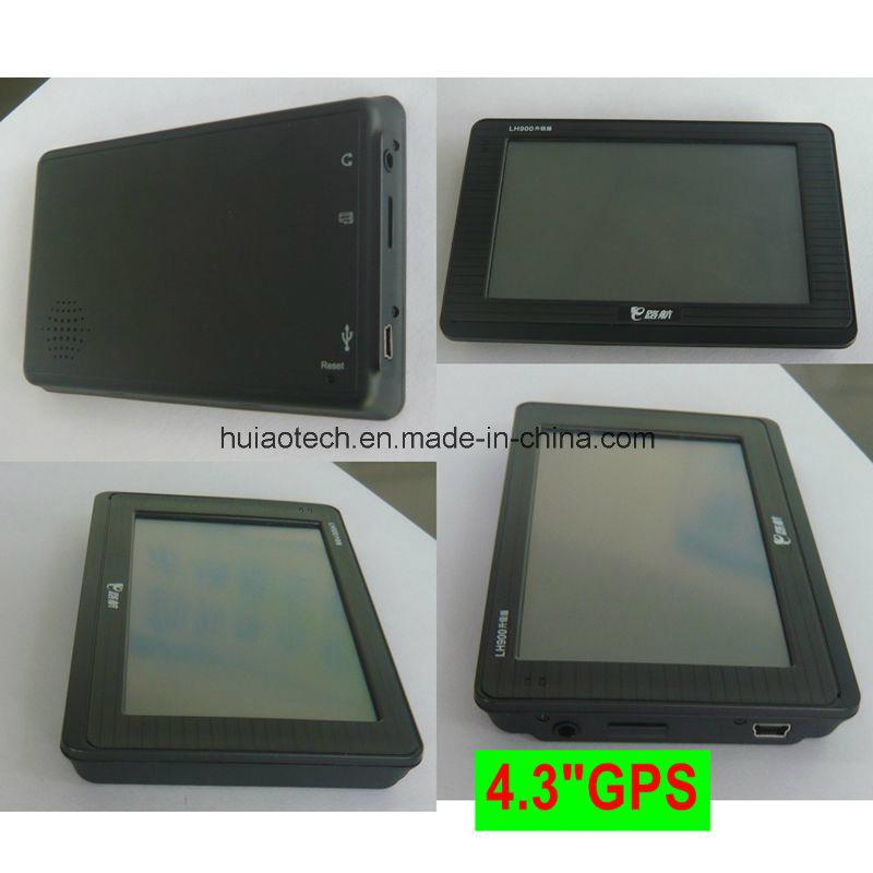 "Hot Sale 4.3"" Car Truck Marine GPS Navigation with Wince 6.0 Dual 800 MHz CPU, FM Transmitter, AV-in for Parking Camera GPS Navigation G-4303"