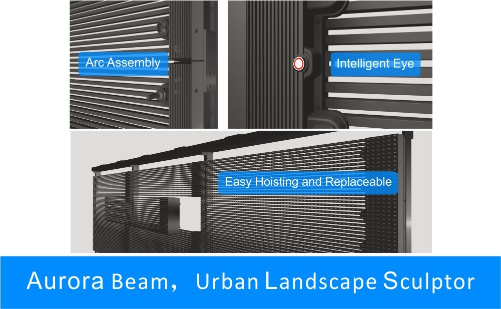 Outdoor LED Curtain, Mesh, Strip, Grid Display Screen