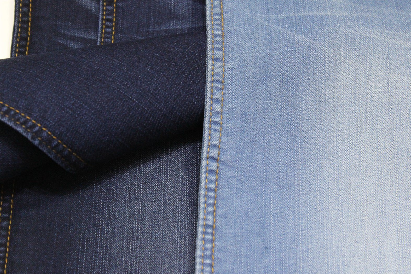 Cotton Polyester Rayon Spandex Indigo Denim