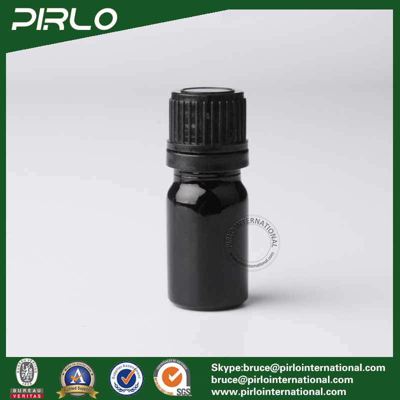 5ml Black Essential Oil Glass Bottles with Black Screw Cap