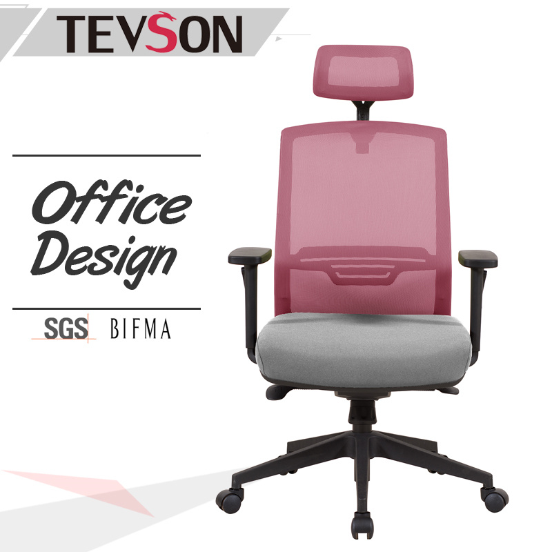 Modern and Soft High Back Office Chair with Plastic Outer Shell