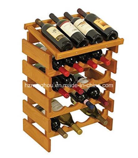 Practical 20 Bottle Wooden Wine Rack Wine Storage Rack for Home