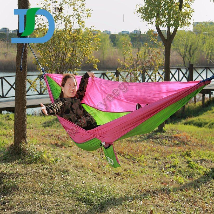 China Factory Hot Sell Double Camping Nylon Hammock Tree Straps