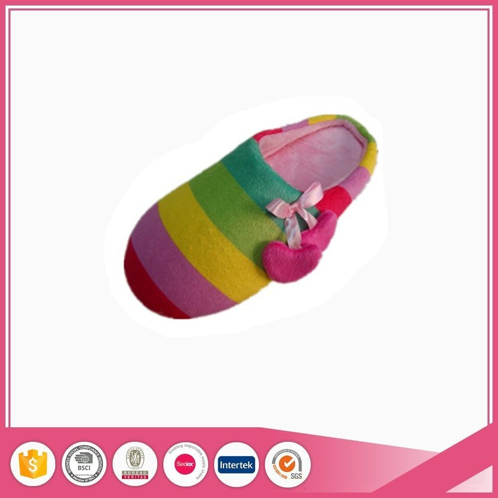 Ladies Fashion Shoes Rainbow Indoor Slipper