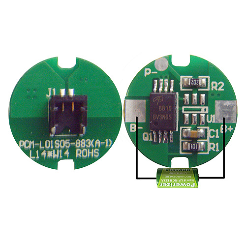 1s Battery PCM / BMS for 3.6V Lithium Battery/LiFePO4 Battery