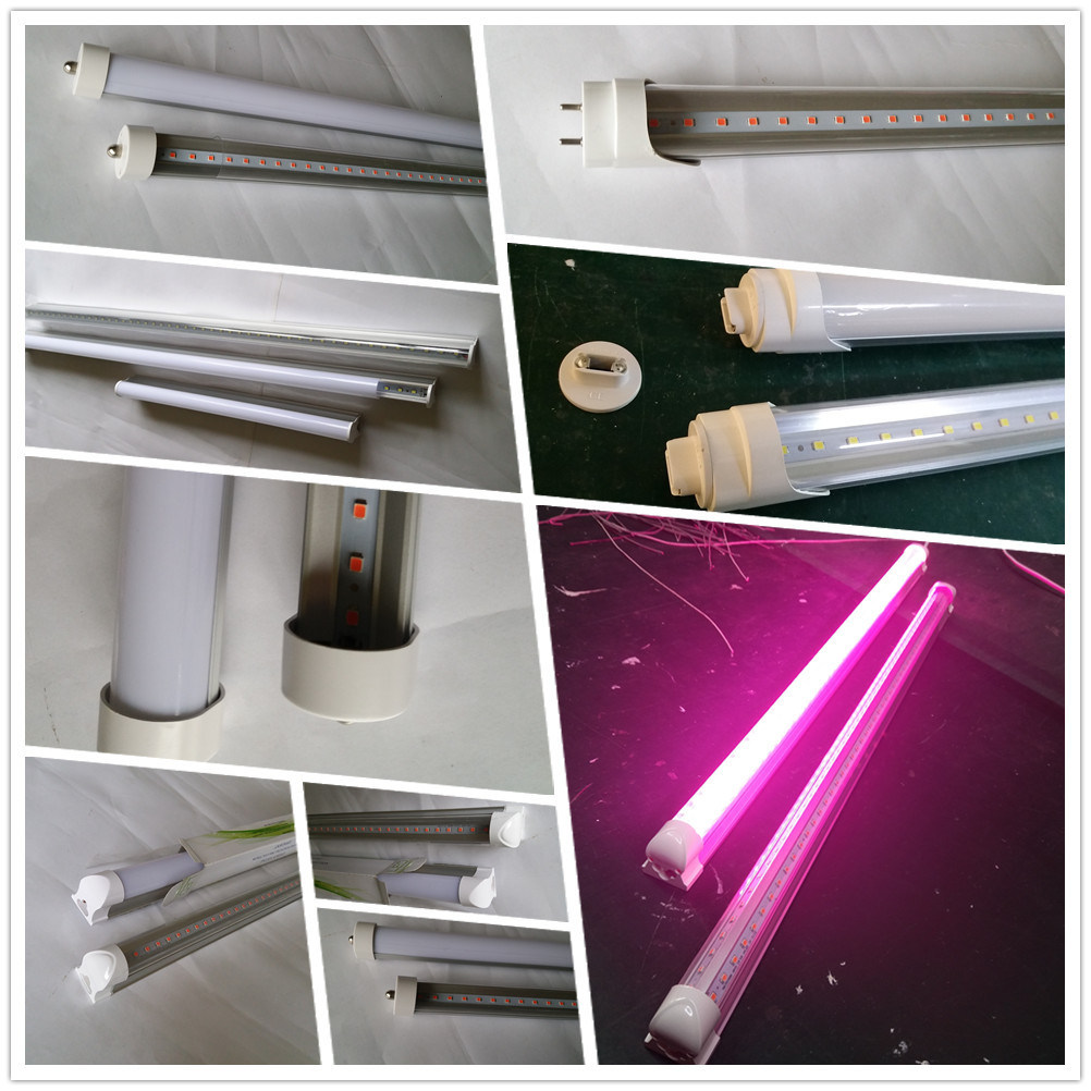 5W 9W 13W 23W IP65 Waterproof 2835 T8 LED Grow Tube Light for Aquarium Greenhouse Plant Grow