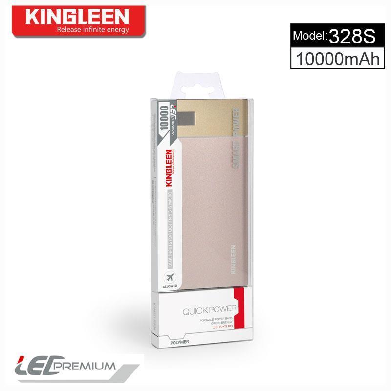 Kingleen 2017 New Design Power Bank Model 328s High Quality 10000mAh Single USB 1aoutput with Digital Display