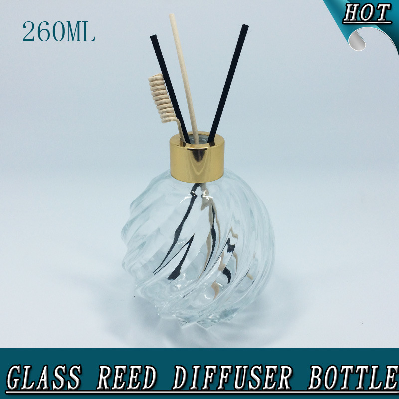 260ml Round Ball Clear Air Freshener Glass Reed Diffuser Bottle