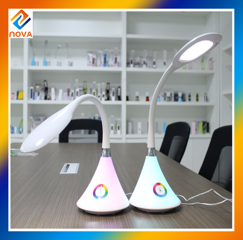 Flexible LED Bedside Reading Table Lamp with Touch Dimmer
