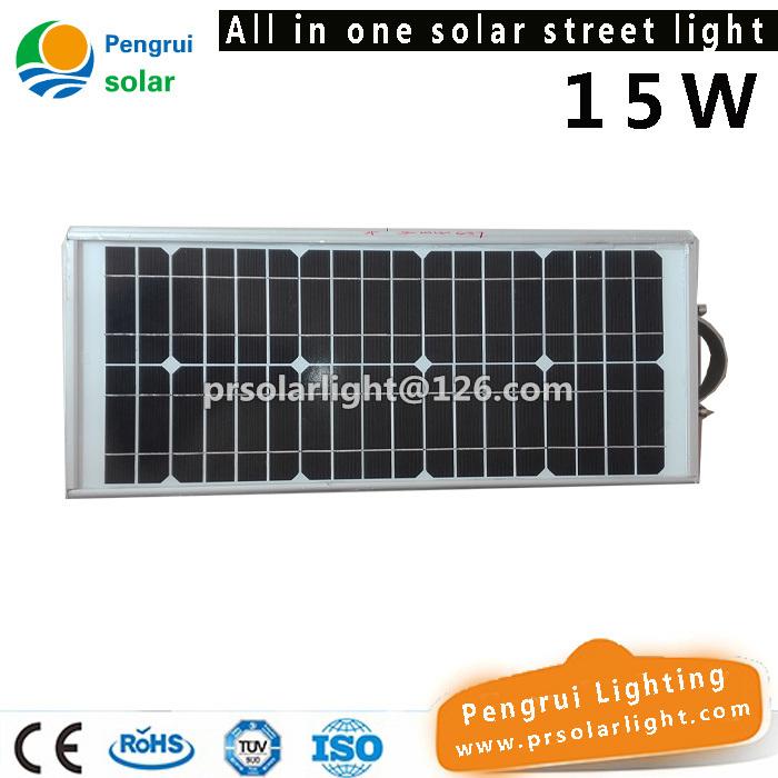 15W Solar Street Light with LED Lighting