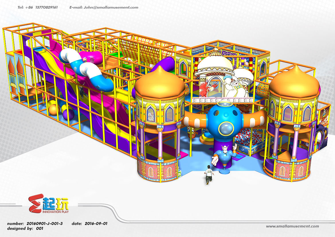 Circus Themed Naughty Castle Play Equipment Indoor Playground
