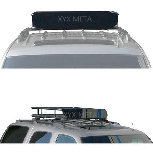 Black Steel Roof Rack Tent Roof Basket for Baggage