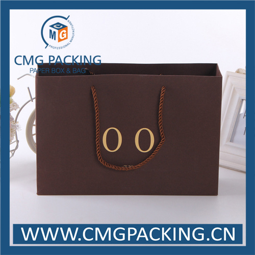 Kraft Luxury Paper Bag with Golden Foil Stamping (CMG-MAY-015)