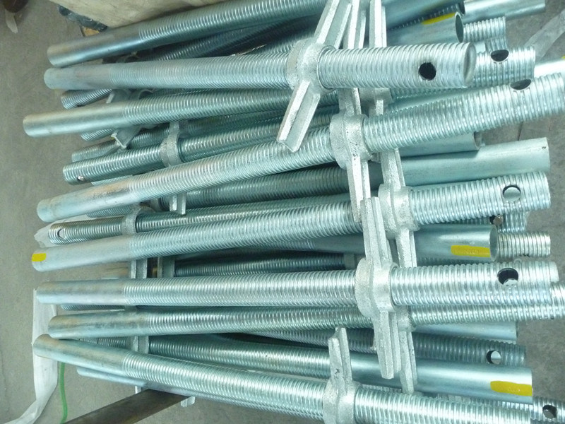 48mm Shoring Screw Jack for Frame Scaffolding Electro Galvanized