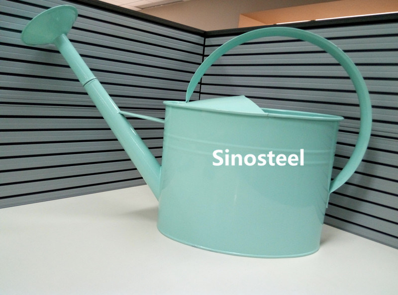 Large Galvanized Zinc Material Watering Can for Garden Decoration