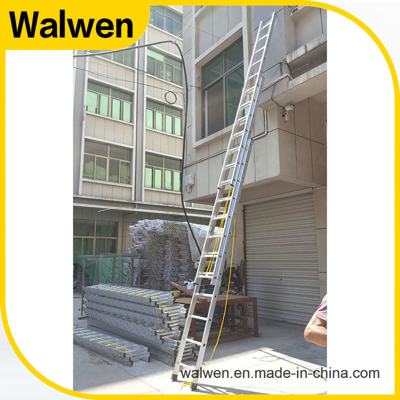 3 Section Multi-Purpose Telescopic Aluminum Ladder with En131 Approval