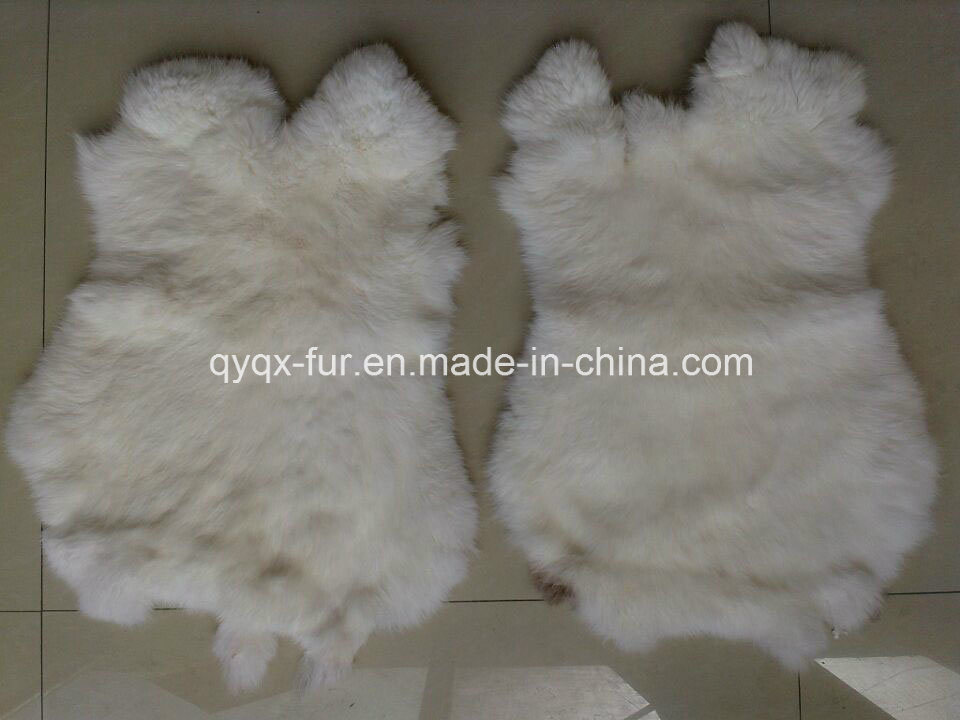 Factory Direct Supply Natural White 100% Real Rabbit Fur Skin