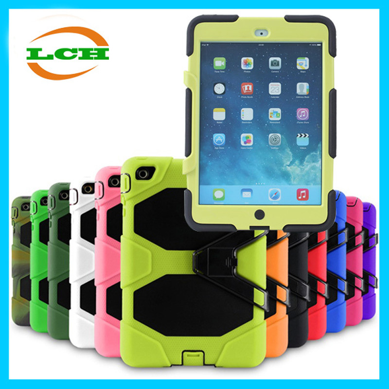 Shockproof Silicone and PC Armor Case for iPad Air 2