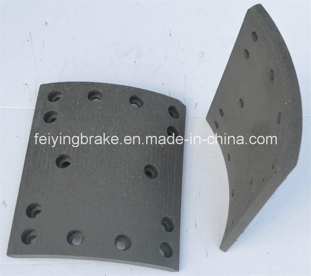 Semi-Metallic Brake Lining HOWO -A7 with Asbetos or Asbetos Free