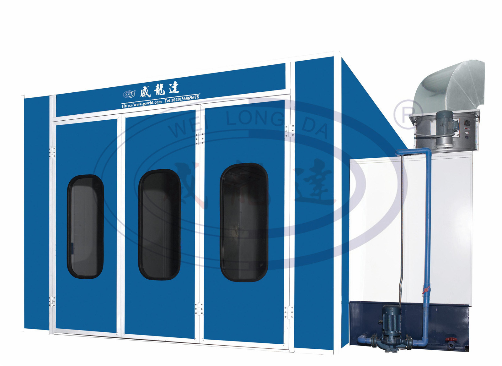 Wld-Ws Industrial Water Curtain Furniture Paint Booth/Spray Booth