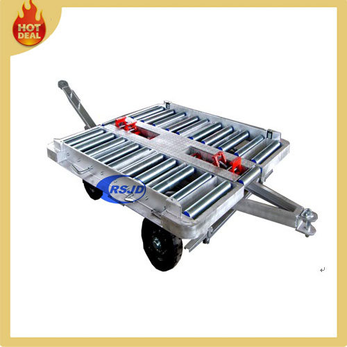 Galvanized Airport Bulk Cargo Luggage Trailer Cart