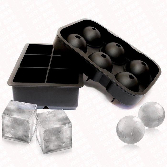 6 Hole Ice Hockey 6 Block Ice Cube Tray Suite
