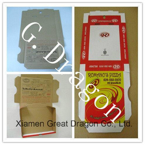 White Exterior and Natural/Kraft Interior Pizza Box (PIZZ014)