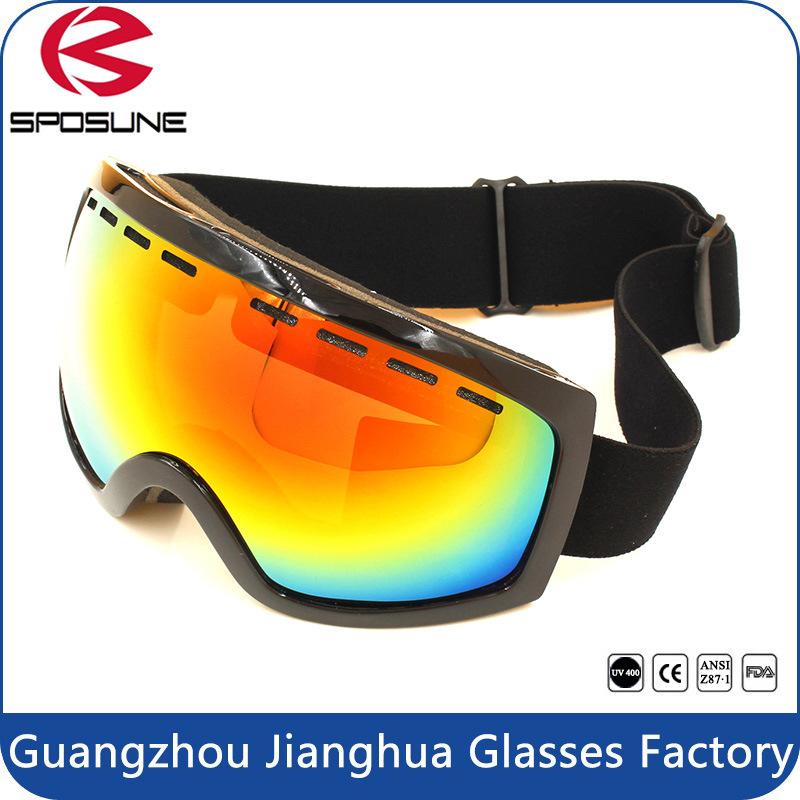 2017 New Men Dual Lens Best Ski Goggles Black Frame Hot Popular Winter Sport Eyewear