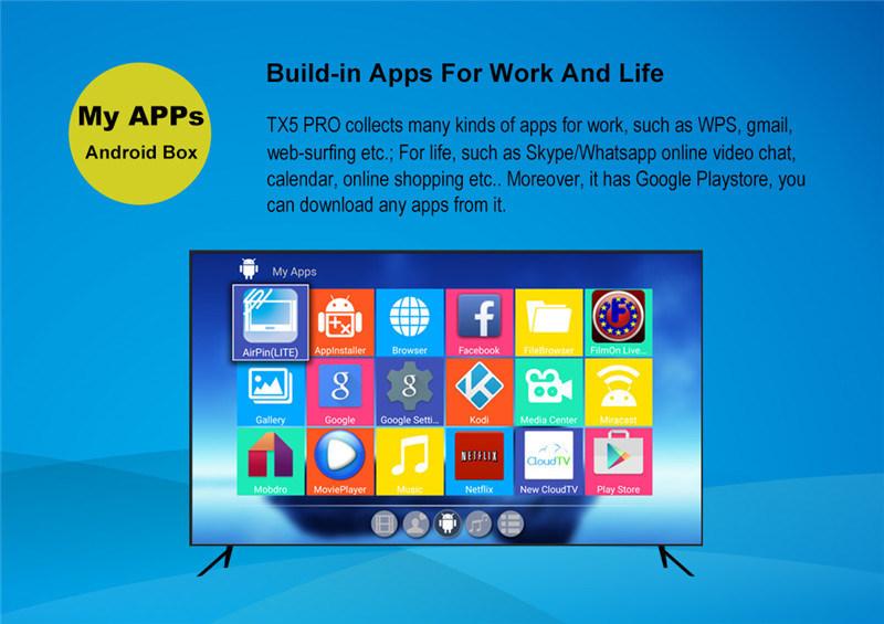 Tx5 PRO Smart TV Box Amlogic S905X 2g/16g Kodi Per-Installed Android 6.0 Marshmallow Set Top Box