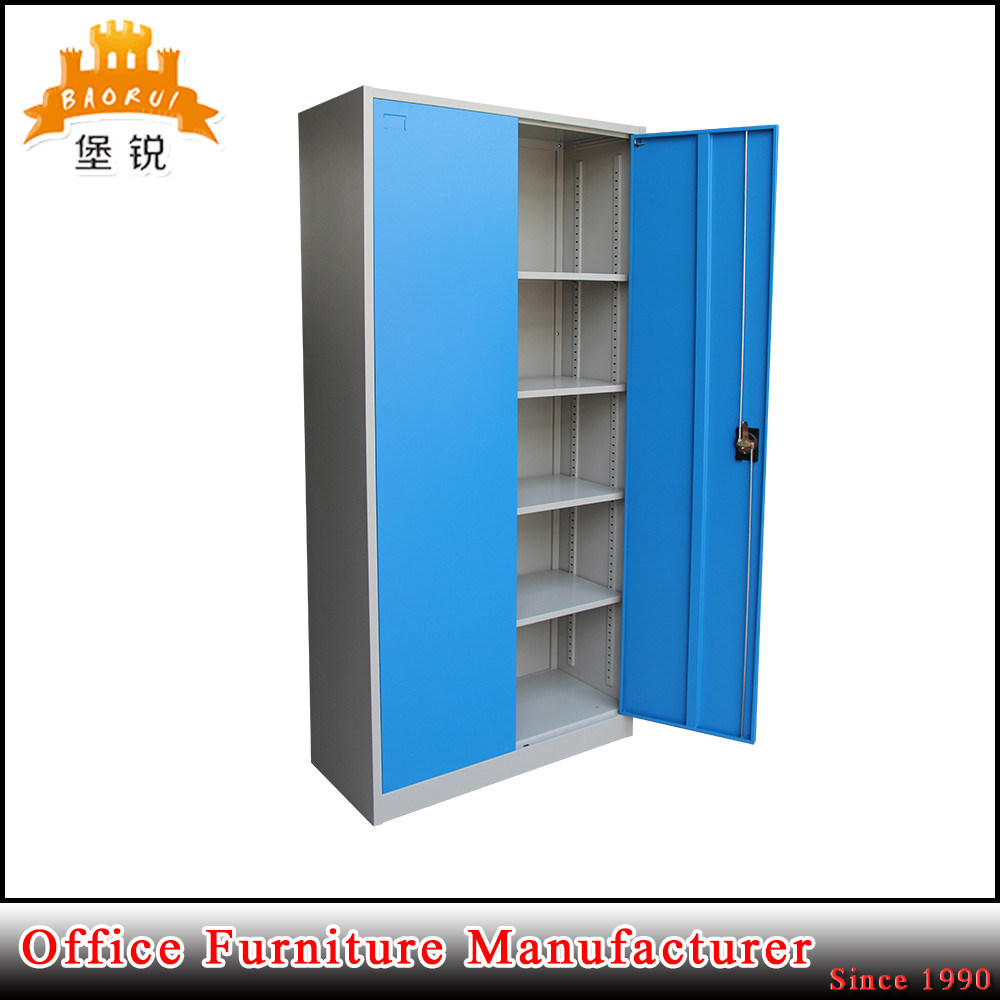 2 Swing Doors Steel Storage Cupboard Metal Office Filing Cabinet