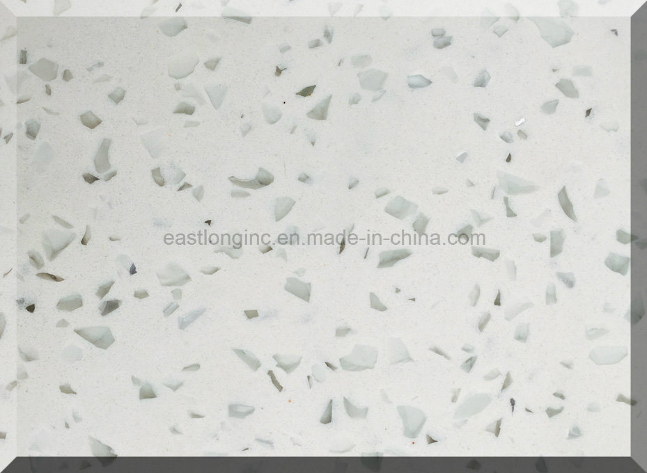Ce Certificate & SGS Standard White Starlight Quartz Stone Slab for Countertops