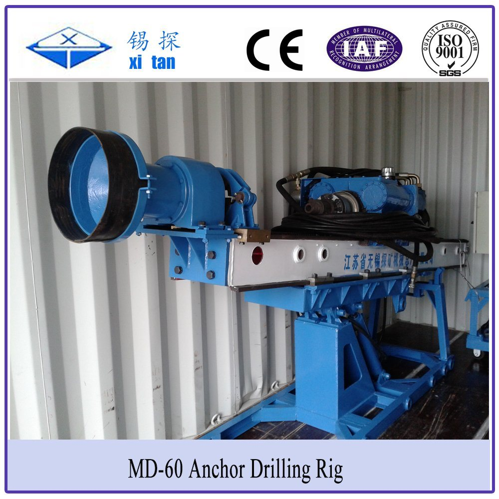 Xitan MD60 Slop Anchor Drilling Rig Foundation Pile DTH Hammer Drill Portable Drilling Machine