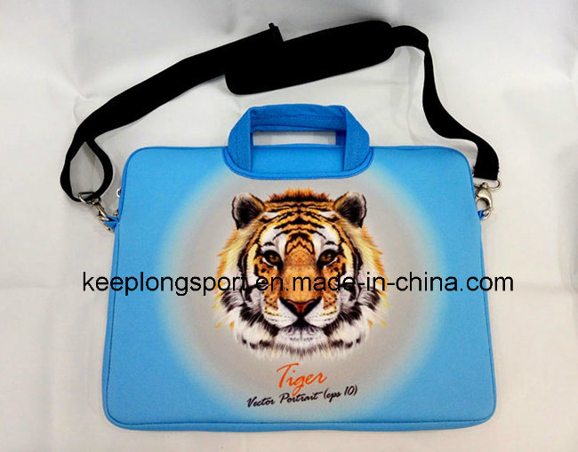 Fashionable Neoprene Laptop Bag with Handle and Shoulder Belt