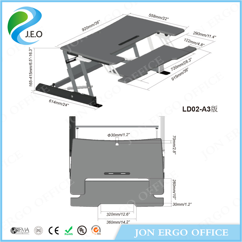 Height Adjustable Standing Desk (JN-LD02-A3)